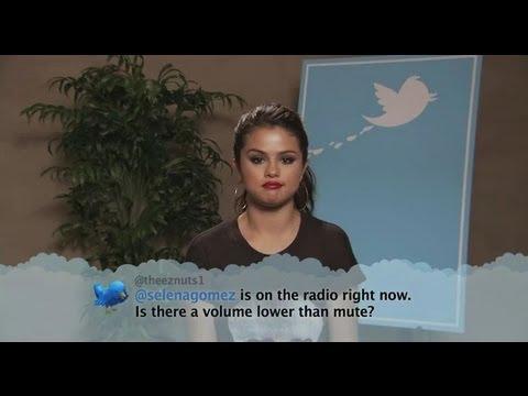 Selena Gomez Reads Mean Tweets on Jimmy Kimmel!