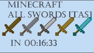 Minecraft Set Seed All Swords Glitched TAS (00:16:33)