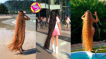 Girls With Extremely Long Hair - New Real Life Rapunzels Musically Compilation 2019