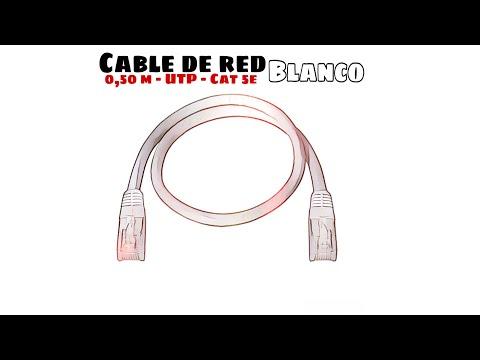 Video de Cable de red UTP CAT5E 0.50 M Blanco