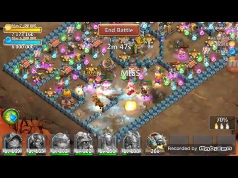Castle Clash - 3 Flame Insane Dungeon 2-1 - Treantaur Secret Weapon