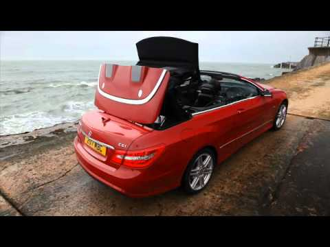 Mercedes Benz E Class Cabriolet   Roof Up   YouTube