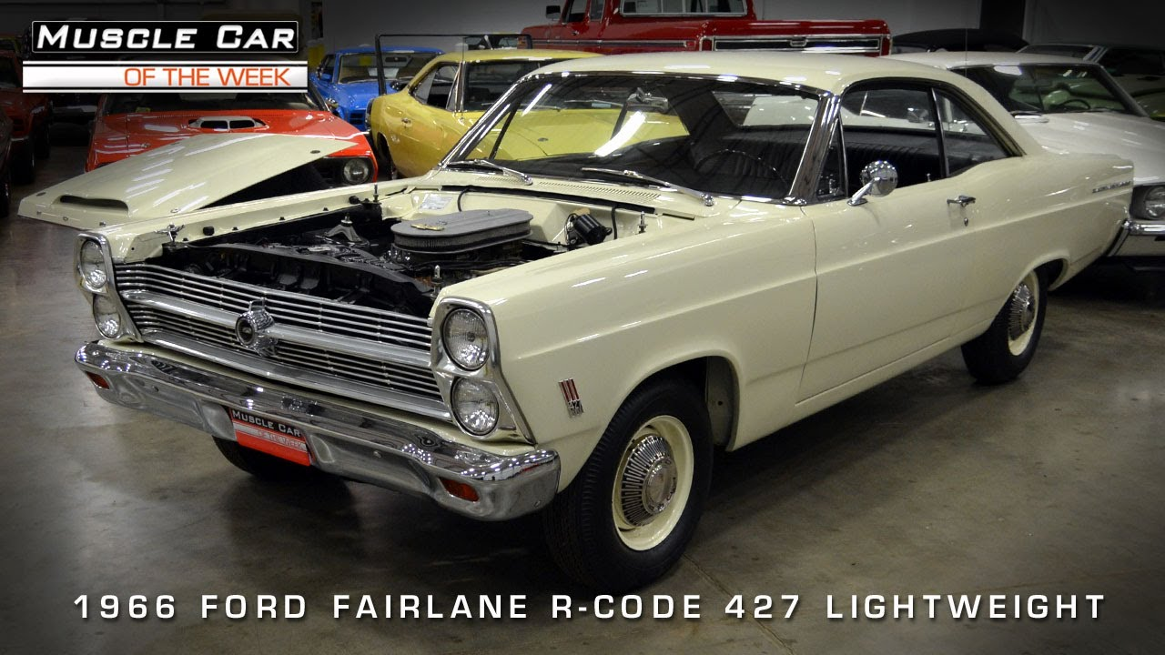 muscle car of the week video 56 1966 ford fairlane 427 lightweight youtube [ 1280 x 720 Pixel ]