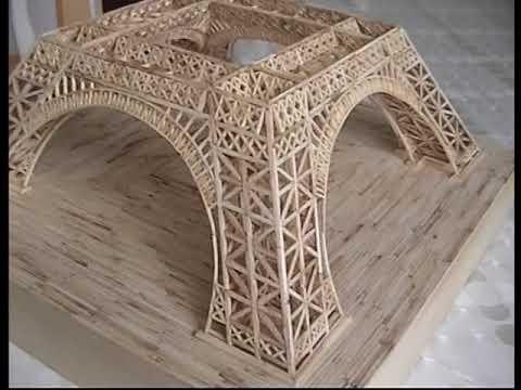 Maquettes En Allumettes La Tour Eiffel Sa Construction