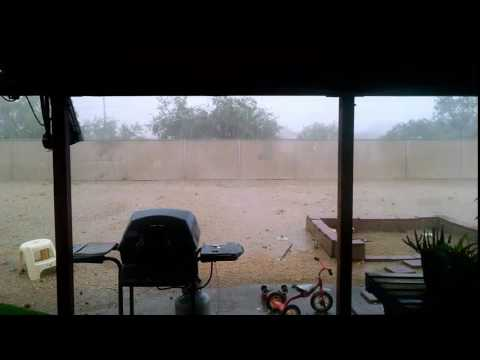 Directly under a Forming Micro-burst in Tucson AZ