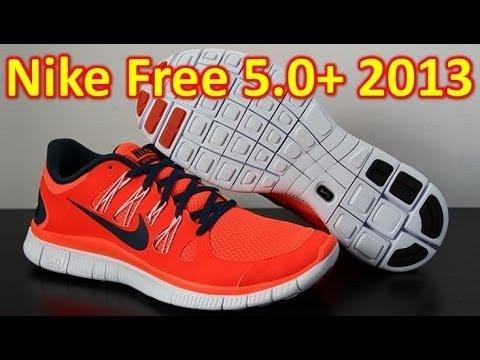 ab239bff287f Nike Free 5.0+ 2013 Total Crimson - Unboxing + On Feet - YouTube