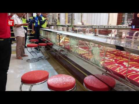 Gold shop heist foiled by resistant display counters
