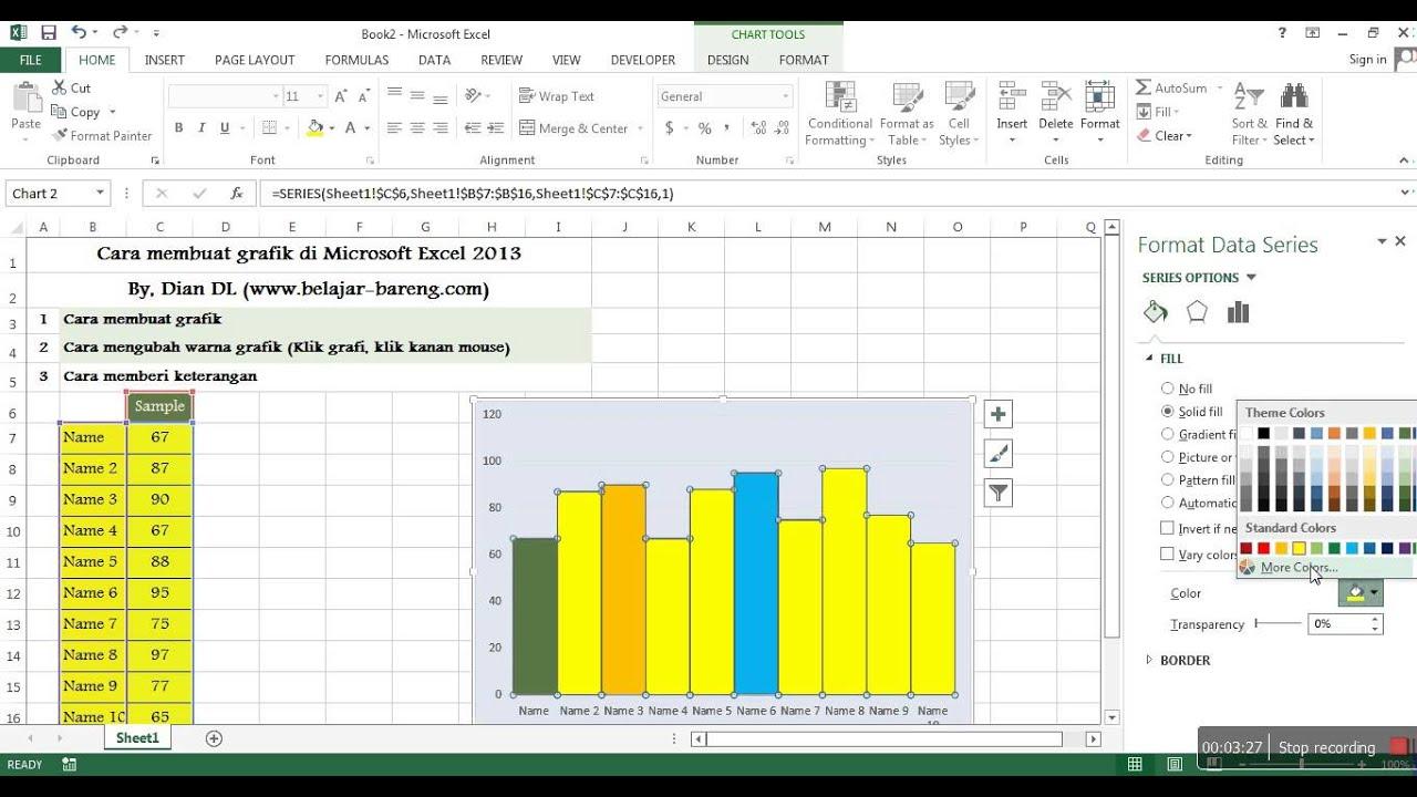 Cara membuat grafikchartdiagram di microsoft excel 2013 youtube cara membuat grafikchartdiagram di microsoft excel 2013 ccuart Choice Image
