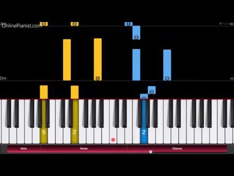 Sword Art Online - Crossing Field - Piano Tutorial - Easy Version