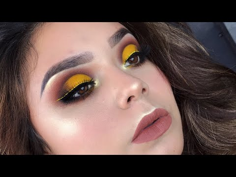 4557c99f2 Tutorial de maquillaje para principiantes y economico paso a paso | looks  de ojos en color amarillo ⋆ Posteadores.com