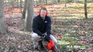 Starting a Gas Leaf Blower