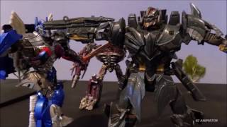 Transformers The Last Knight Stopmotion - Autobots Vs Decepticons
