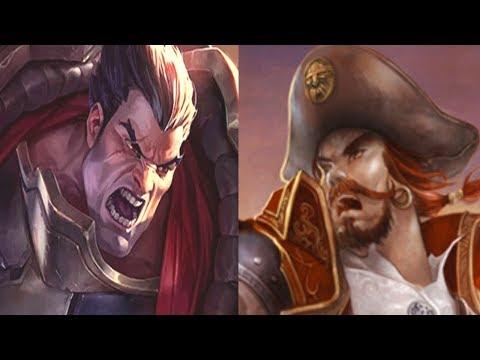 видео: Лига Легенд | Имбовый Дариус против Гангпланка на топе