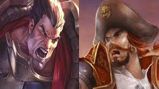Лига Легенд | Имбовый Дариус против Гангпланка на топе