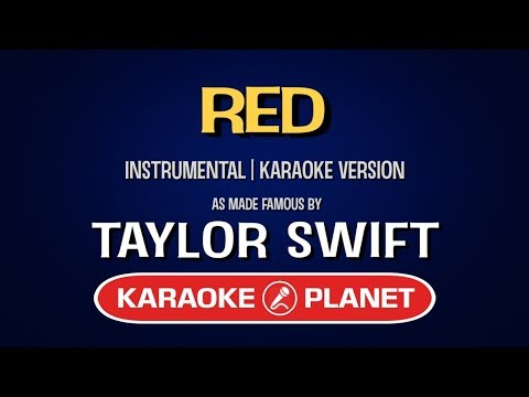 Red - Taylor Swift | Karaoke LYRICS