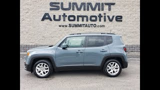 2018 JEEP RENEGADE LATITUDE ANVIL CLEARCOAT WALK AROUND REVIEW SOLD! 8J468A  www.SUMMITAUTO.com