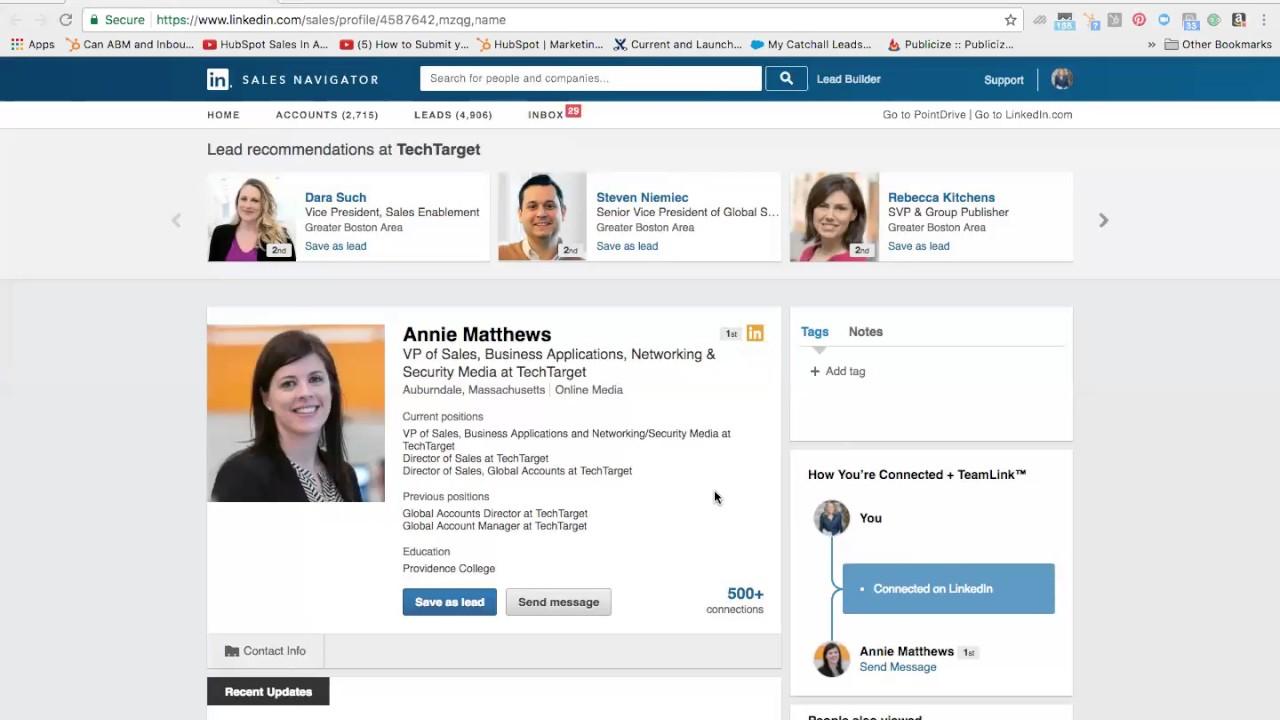Annie Matthews, VP of Sales at TechTarget