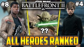 All HEROES RANKED For Galactic Assault! Star Wars Battlefront 2