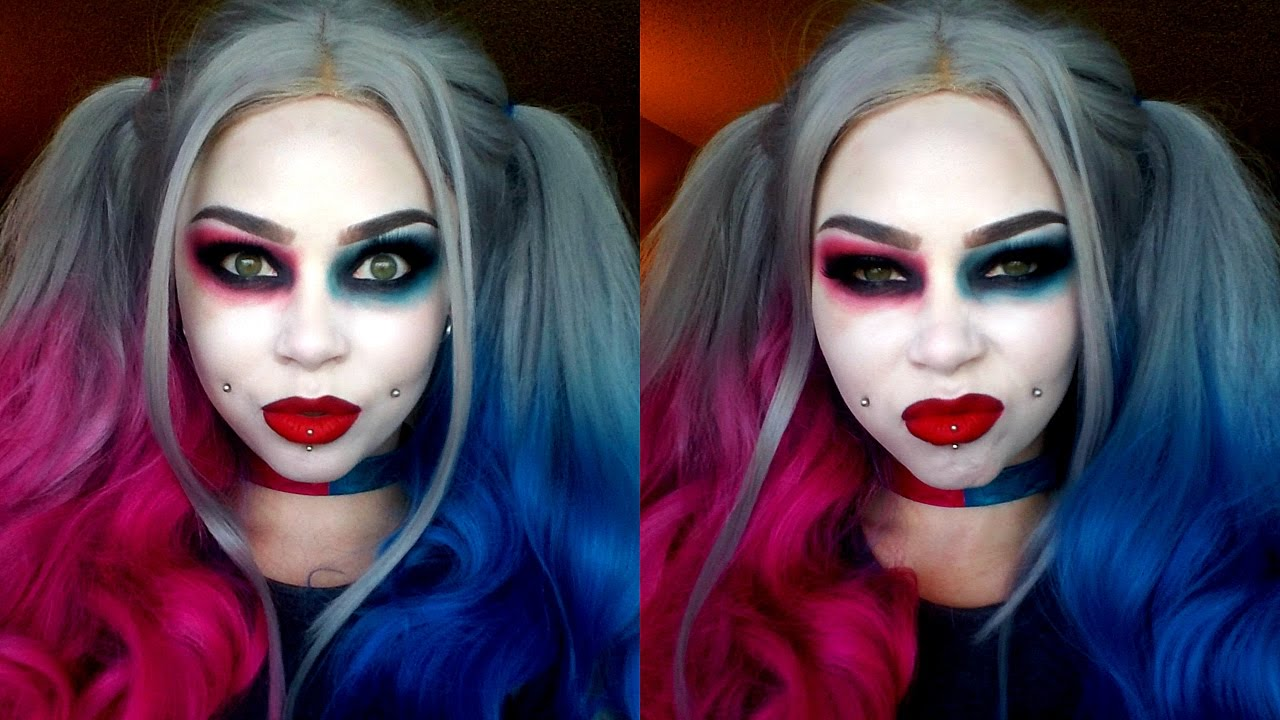 INJUSTICE 2 Harley Quinn Cosplay Makeup - YouTube