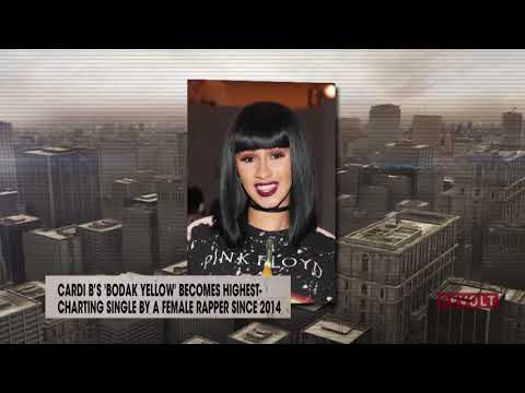 Cardi B's 'Bodak Yellow' highest-charting single by a female rapper since 2014 | Rumor Report