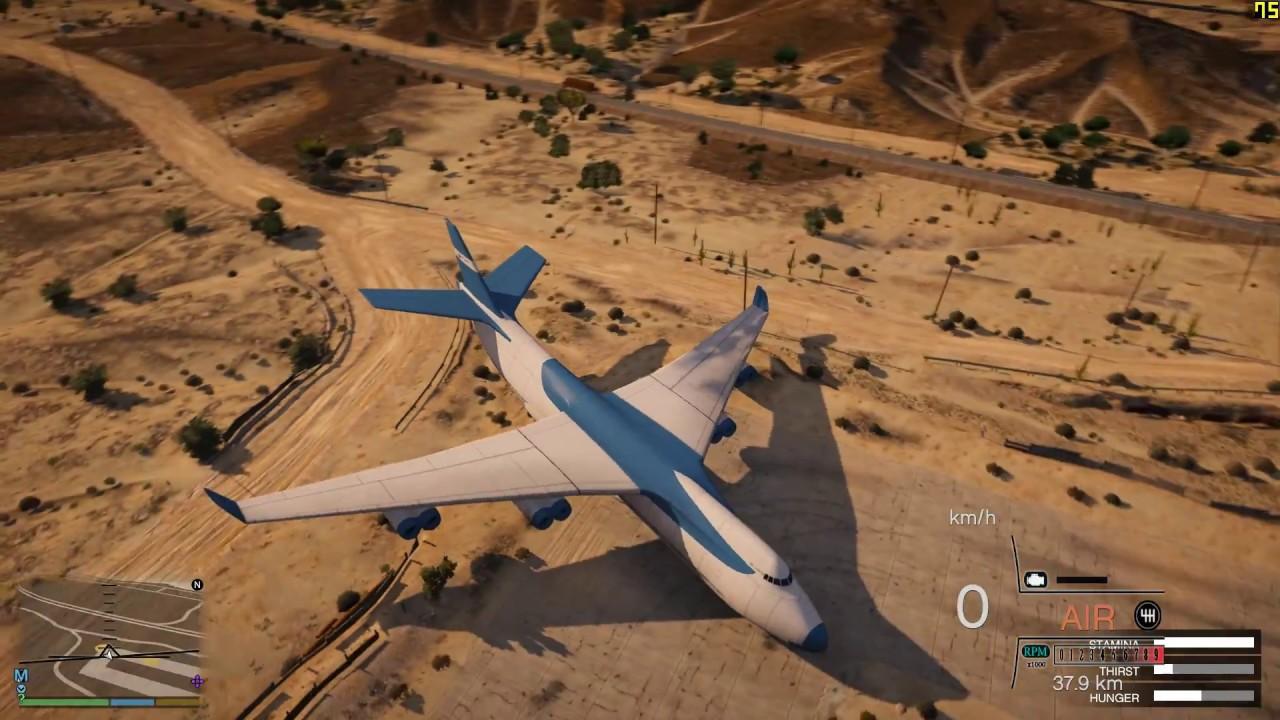 GTA 5 Phi Công Siêu Cấp Hạ Cánh Siêu Máy Bay To Nhất Thế Giới Xuống Xa Mạc Và Cái Kết Kinh Hoàng