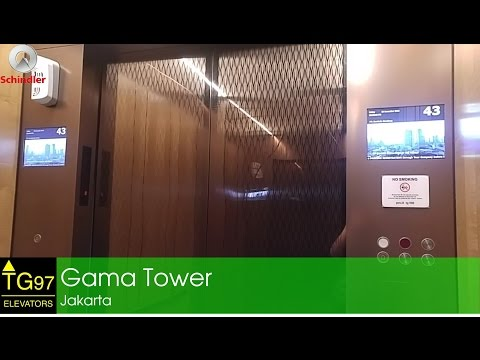 Schindler 7000 Traction Elevators with PORT - Gama Tower, Jakarta (High Zone)