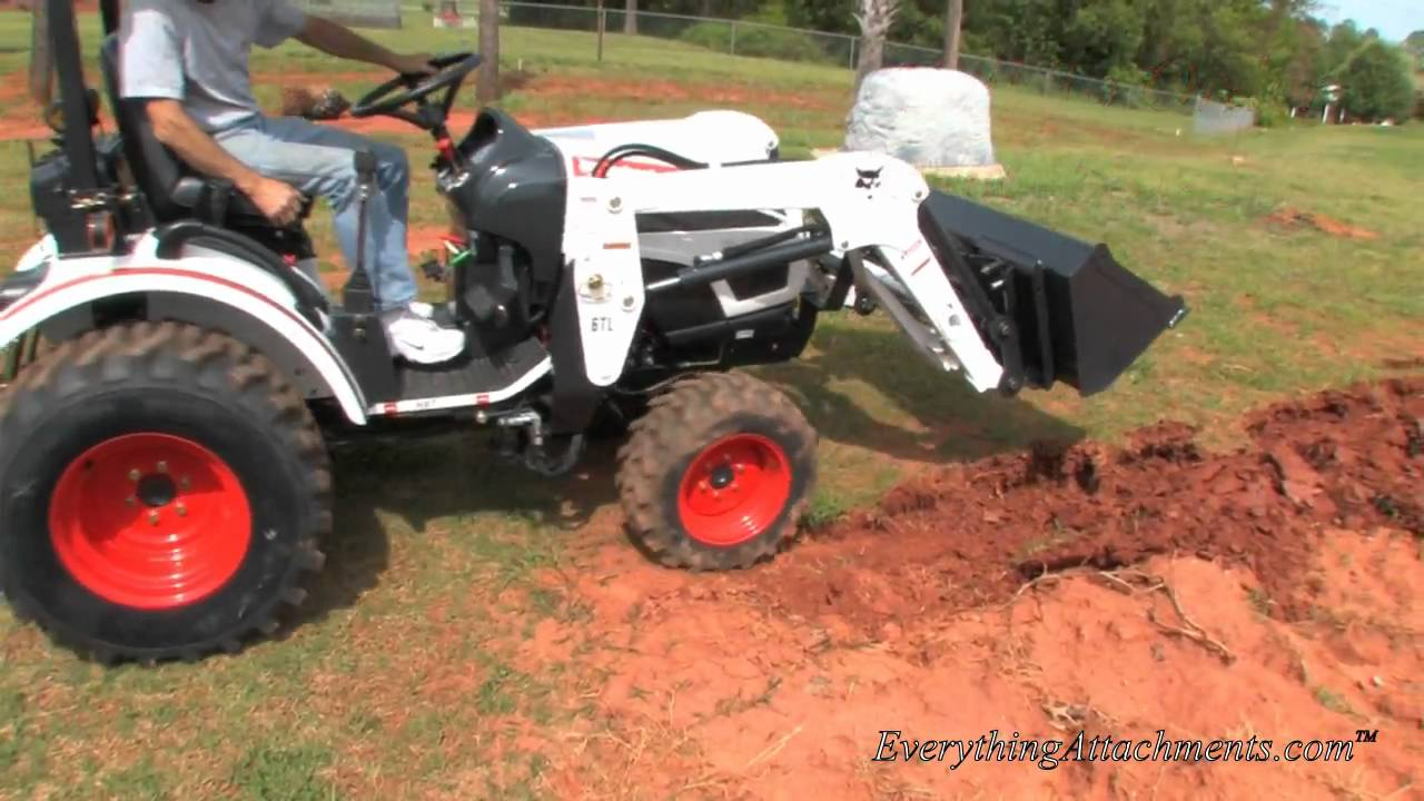 Small Garden Tractors : How to plow with a compact tractor doovi