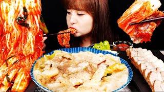 ASMR(요리먹방) 직접만든 고소한 들깨 수제비와 아삭…