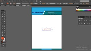 how to make professional business letterhead design in adobe Illustrator Mp3