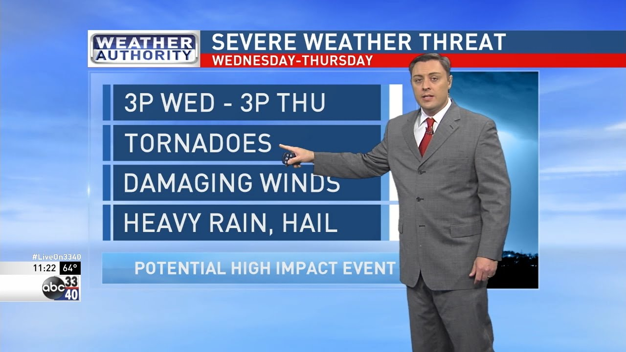 ABC 33/40 Weather Authority: Charles Daniel's midday update on severe  weather threat
