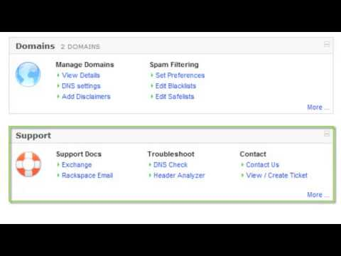 Getting started with the Rackspace Email & Apps Control Panel