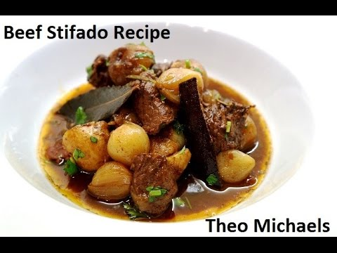 Stifado - Beef Stifado Recipe - Greek Beef Stew by Theo Michaels, Masterchef