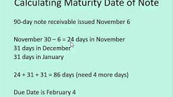 Notes Receivable & Payable Series - Video #1: Calculating the maturity date of a note
