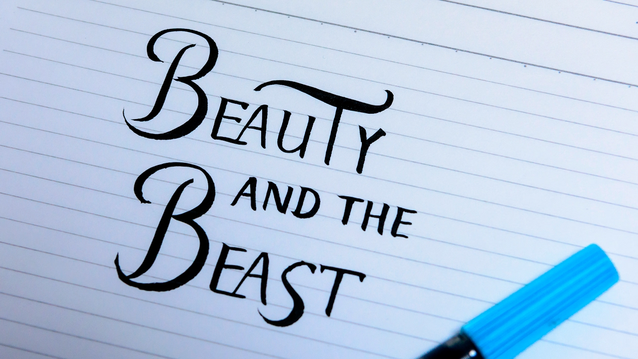 Practice Beauty And The Beast Logo Lettering Youtube