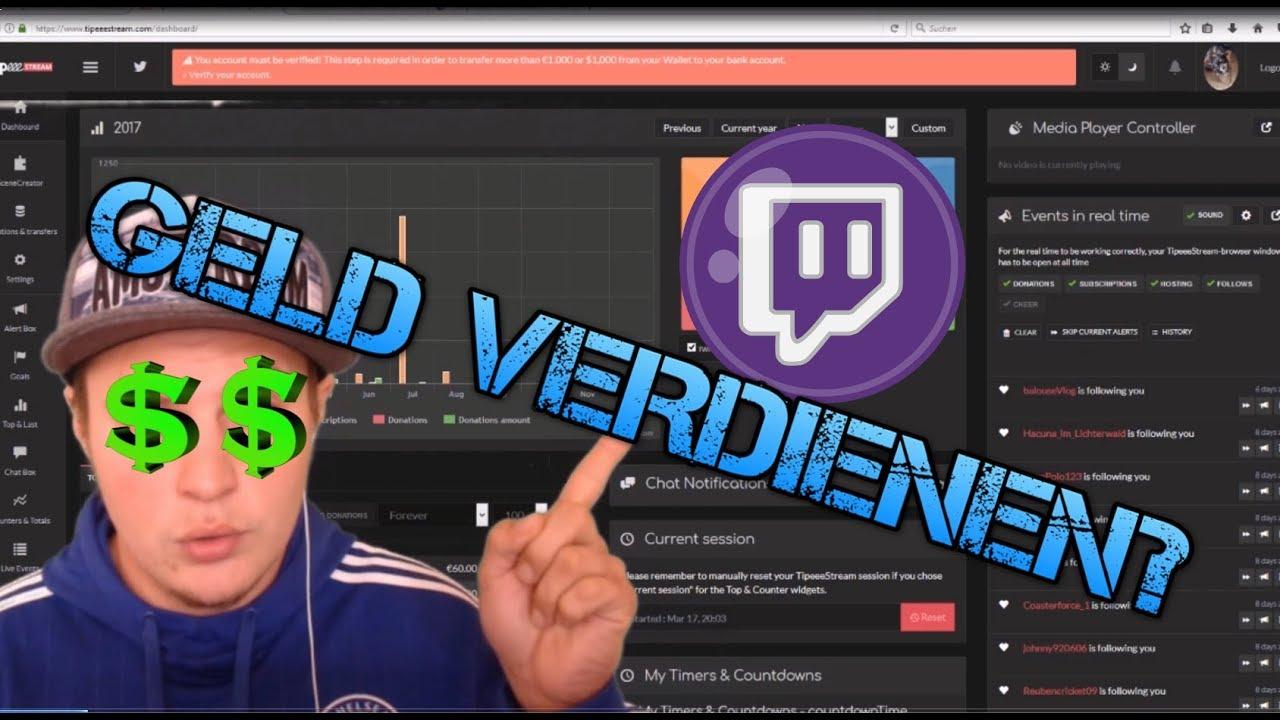 Geld verdienen mit Twitch - YouTube