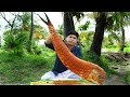 - BIG FISH FRY WITH BANANA LEAF - വലിയ മീൻ വാഴയിലയിൽ ചുട്ടത് | Cooking Skill Village Food Channel