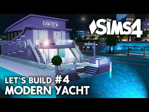 Yacht bauen in Die Sims 4 | Let's Build #4 Hafen Grundstück mit modernem Boot