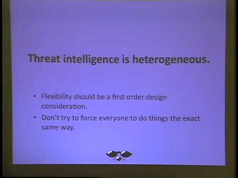 ShmooCon 2014: Operationalizing Threat Information Sharing: Beyond Policies and Platitudes