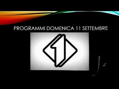 Programmi TV Domenica 11 09 16