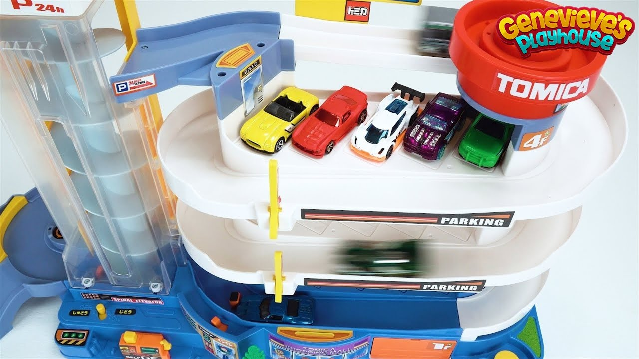 preschool-learning-toy-cars-video-for-toddlers-teach-kids-colors-with-tomica-playset-fun-education