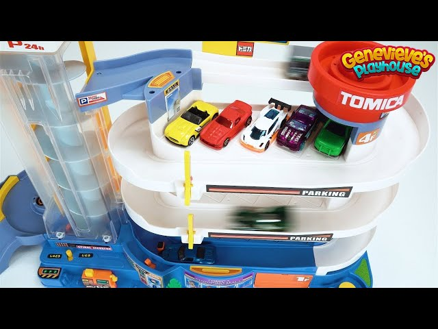 Preschool Learning Toy Cars Video for Toddlers Teach Kids Colors with Tomica Playset! Fun Education!