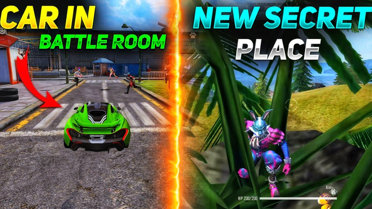 Top 5 New Unknown Tricks in free fire    Car Drive inside the training ground in garena free fire