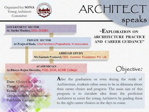 Architect Speaks 1(full) - Exploration on Architecture Practice and Career Guidance