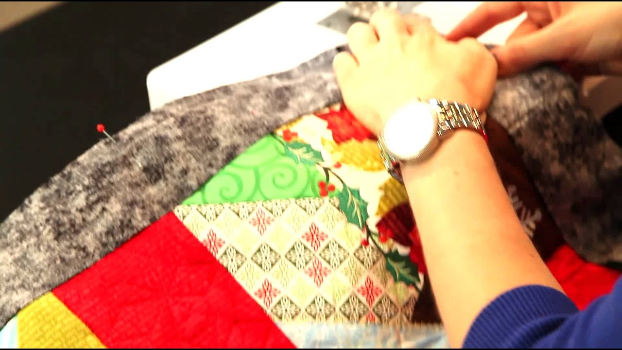 Finishing A Quilt Part 3- Adding Binding - YouTube : adding binding to quilt - Adamdwight.com