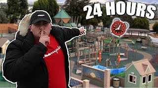 24 HOUR OVERNIGHT CHALLENGE IN THE WORLDS BIGGEST PARK!!
