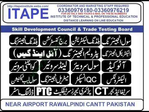 distance education skill and technical education professional short courses