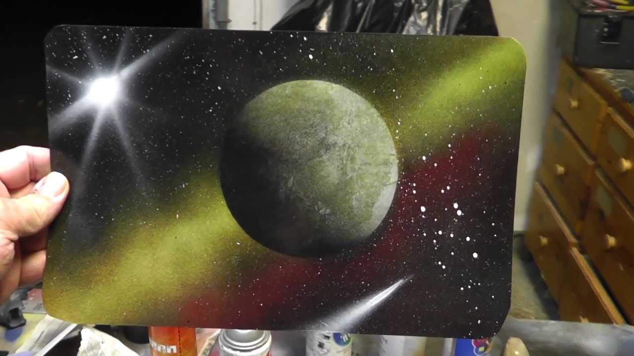 Space Spray Paint Art - Osage City Kansas - YouTube