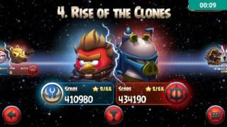 Killed all the pigs with 1 birdy (angry bird starwars)