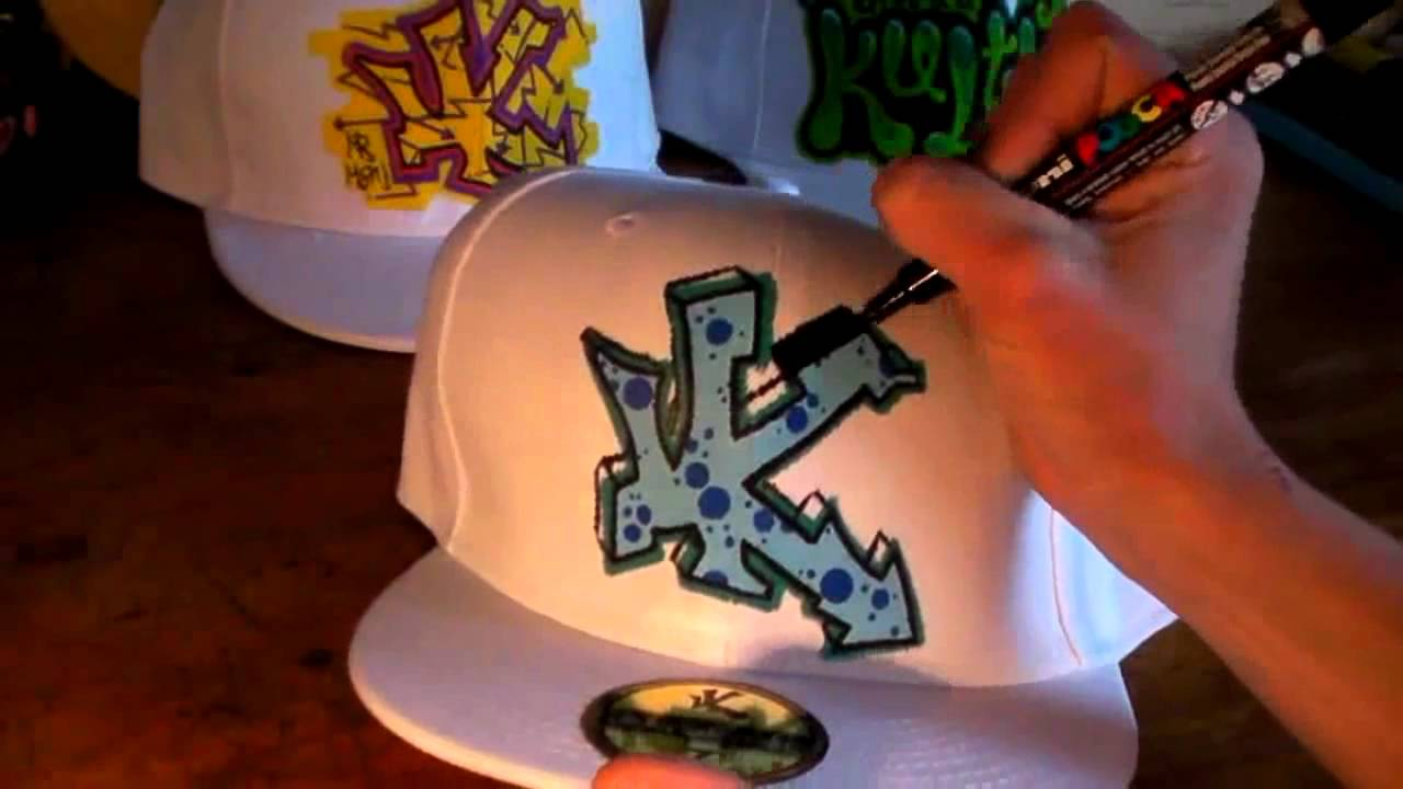 HOW TO GRAFFITI CAPS #5 draw paint graff hip hop new era ...