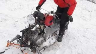 Самодельный снегоход 2016+своими руками!